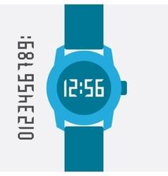 Flat Hand Watch design elements vector image vector image