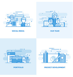 flat line designed concepts 4 vector image vector image