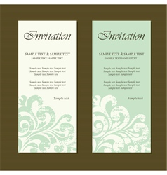 invitation set vector image vector image