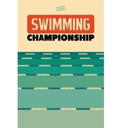 Typographical vintage style poster for swimming vector