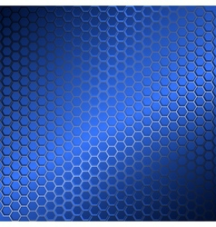 Background with metal grid of hexagons vector image vector image