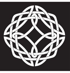 Celtic knot design vector image vector image