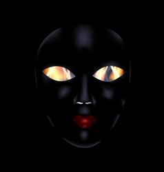 darkness and black mask vector image