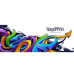 graffiti arrows background vector image vector image