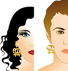 homosexual girl and boy vector image vector image