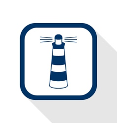 lighthouse flat icon vector image vector image