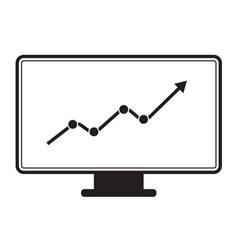 marketing monitor icon on white background vector image vector image