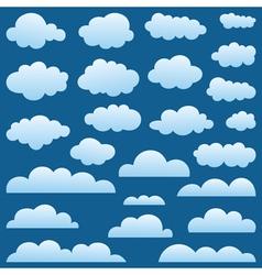 Set a cloud vector image vector image