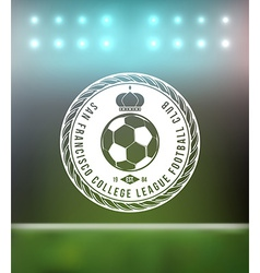 Soccer Football Typography Badge Design Element vector image