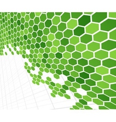 technological green cells vector image vector image