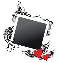 Valentine's frame vector image vector image