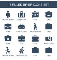 16 brief icons vector image