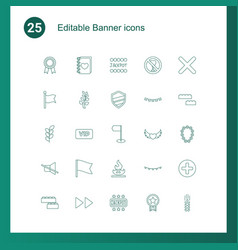 25 banner icons vector