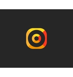 Abstract target logo design Aim creative symbol vector image