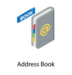 Address book vector