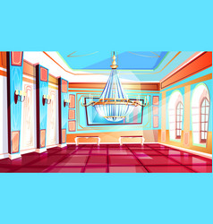 Ballroom with chandelier vector