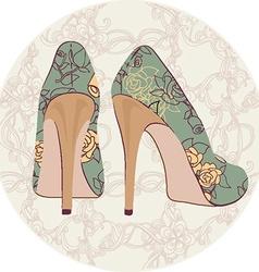beautiful pair fashion shoes vector image