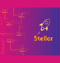 Blockchain stellar style circuit network vector