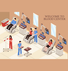 blood center isometric vector image