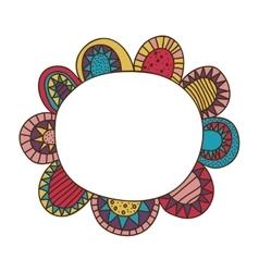 Bohemian or boho style flower icon image vector