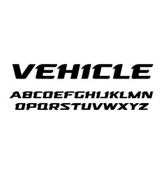 Bold wide simple font slant letters trendy font vector