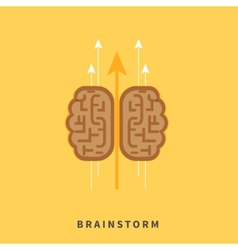 Brainstorm headwork concept vector