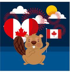 Canada day card vector