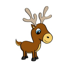 cartoon a cute little reindeer vector image
