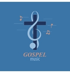 Christian music logo vector image
