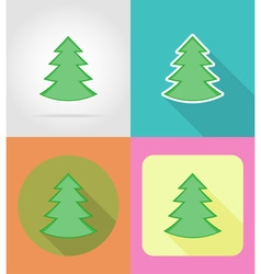 christmas and new year flat icons 01 vector image