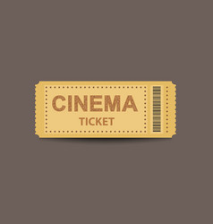 Cinema ticket stub template vector