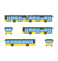 City bus set vector