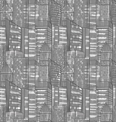 City tall building grayscale vector