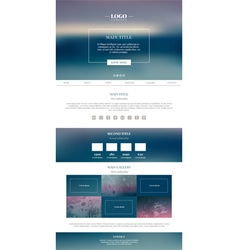 Clean minimalistic landing page vector image