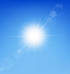 Clear sunny sky vector