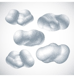 Clouds Halftone style vector