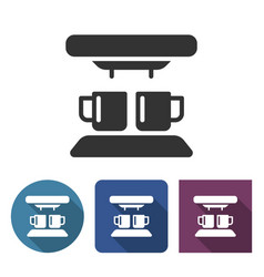 coffee machine icon in different variants with vector image