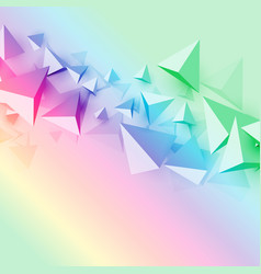 Colorful background with 3d polygon triangle vector