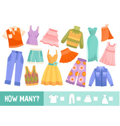 colorful kids puzzle with clothing or garments vector image