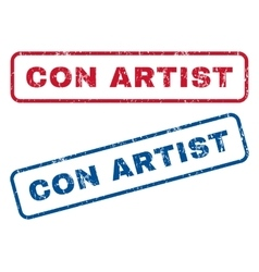 Con Artist Rubber Stamps vector