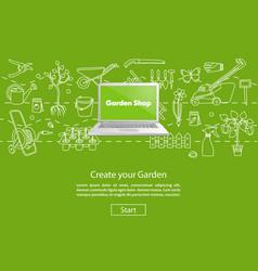 Create your Garden Green Website Template vector image