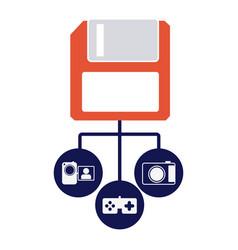diskette server icon stock vector image