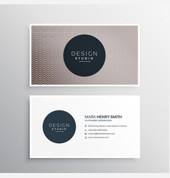 elegant wavy lines business card design background vector image