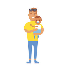 family people adult happiness smiling father with vector image