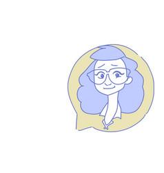 Female head chat bubble profile icon woman avatar vector