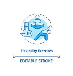 Flexibility exercises turquoise concept icon vector