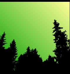 forest landscape silhouette realistic vector image