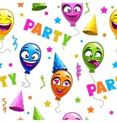 Funny seamless pattern with party decor elements vector image