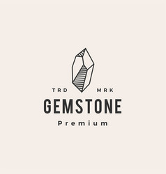 gem stone hipster vintage logo icon vector image