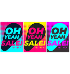 geometric poster black friday sale template vector image